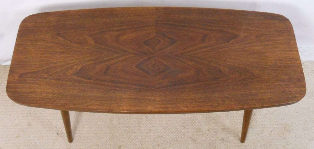 Retro Walnut Finish Long Coffee Table - SOLD